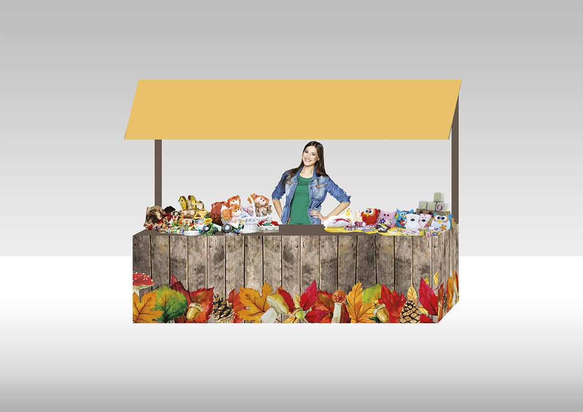 Stand Autunno - Maia Eventi - organizzazione mercatini artigiani ed eventi in piazze, strade e centri commerciali