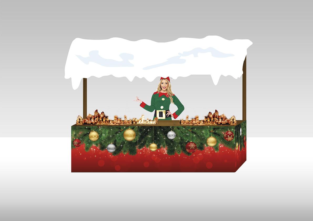 Stand Natale - Maia Eventi - organizzazione mercatini artigiani ed eventi in piazze, strade e centri commerciali
