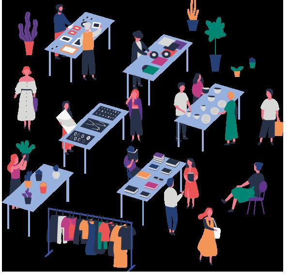Factory Market - Maia Eventi - organizzazione mercatini artigiani ed eventi in piazze, strade e centri commerciali