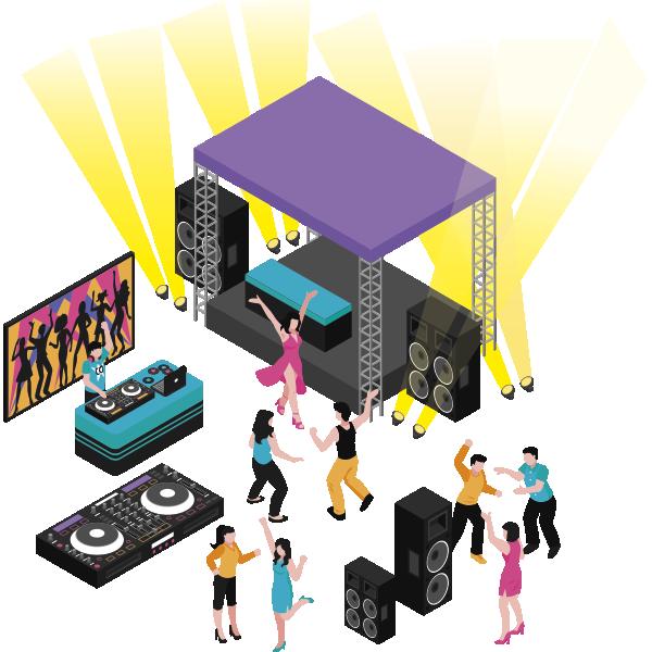 Vibes&Energy - servizi audio video e luci - Maia Eventi